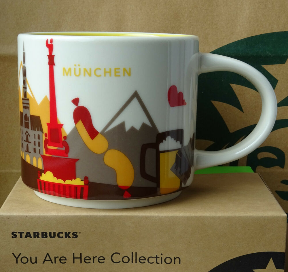 starbucks city mug cup you are here series yah m nchen munich germany 14oz new 762111133854 ebay. Black Bedroom Furniture Sets. Home Design Ideas