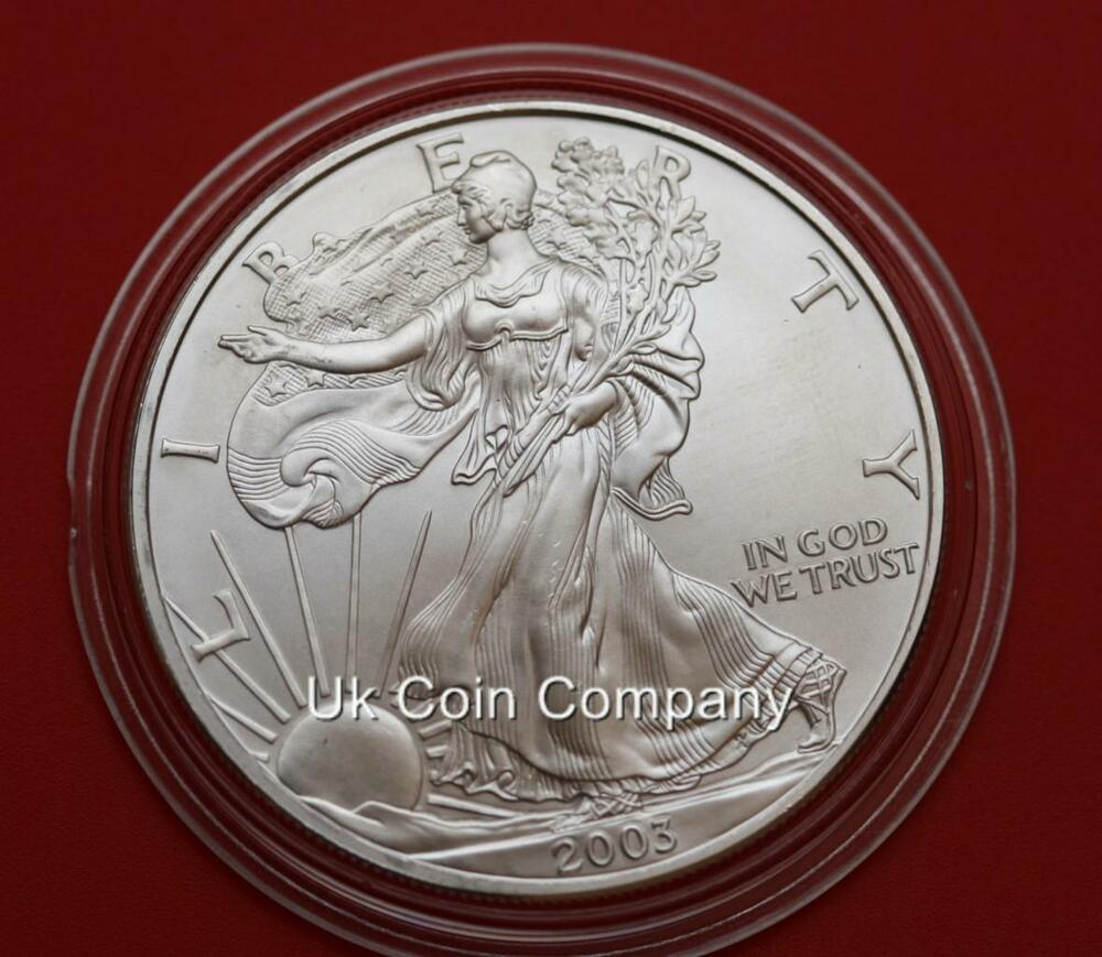 2003 American 1oz Silver Eagle Liberty 1 One Dollar Coin