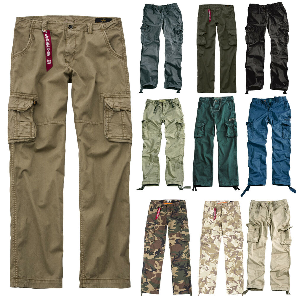 alpha industries hose jet pant cargo pants cargohose herren men alle farben ebay. Black Bedroom Furniture Sets. Home Design Ideas