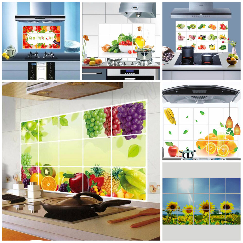 Removable Kitchen Oilproof Waterproof Fruit Wall Stickers ...