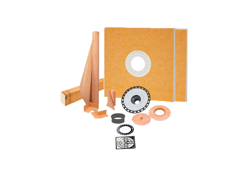 Schluter kerdi shower kit with drain all sizes free - Ditra shower system ...