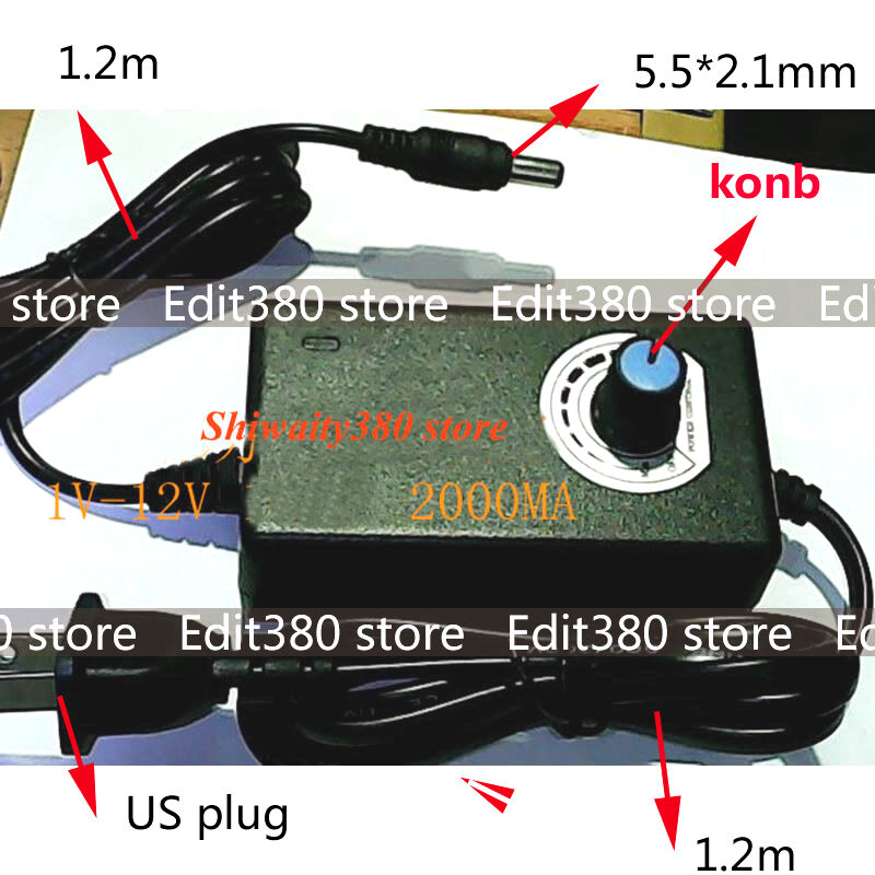 Universal 24w ac dc power adapter to dc 1 12v 2a for motor for Power supply for 24v dc motor