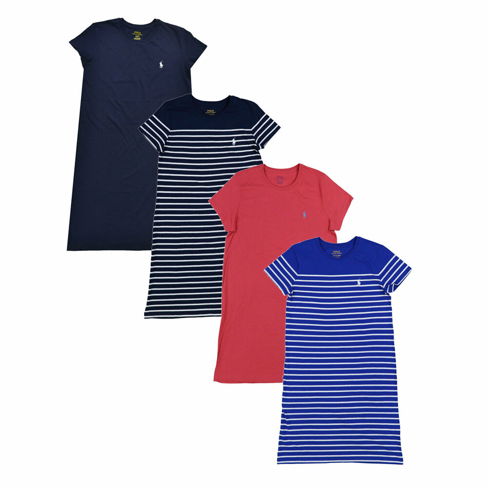 Polo Ralph Lauren Womens T Shirt Dress Jersey Knee Length ...
