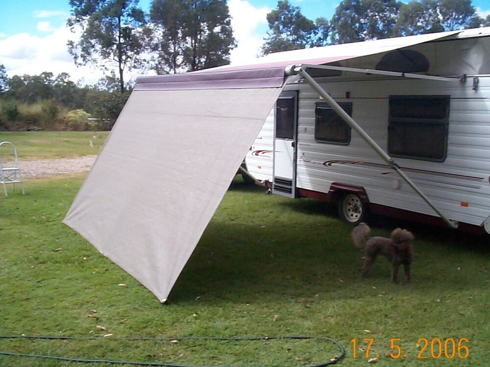 Shade Curtain Privacy Screen For Caravan Roll Out Awning 1