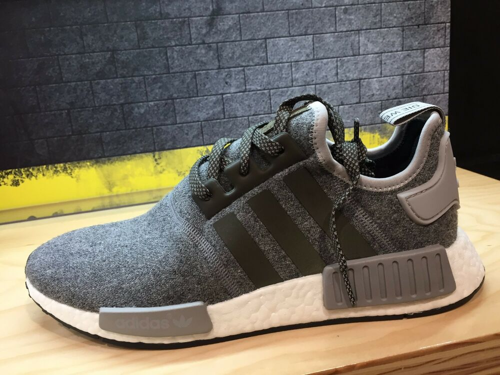 Details about Adidas Originals NMD R1 Charcoal Gray Wool BW0616 Men a718b074e