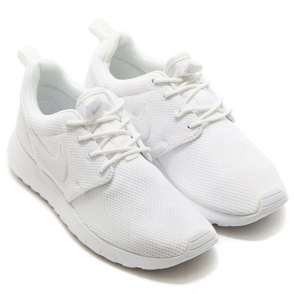 0ef89ca6d527 Details about NEW Nike Roshe Run One Girls Junior Kids GS Running Trainers  Shoes - All White