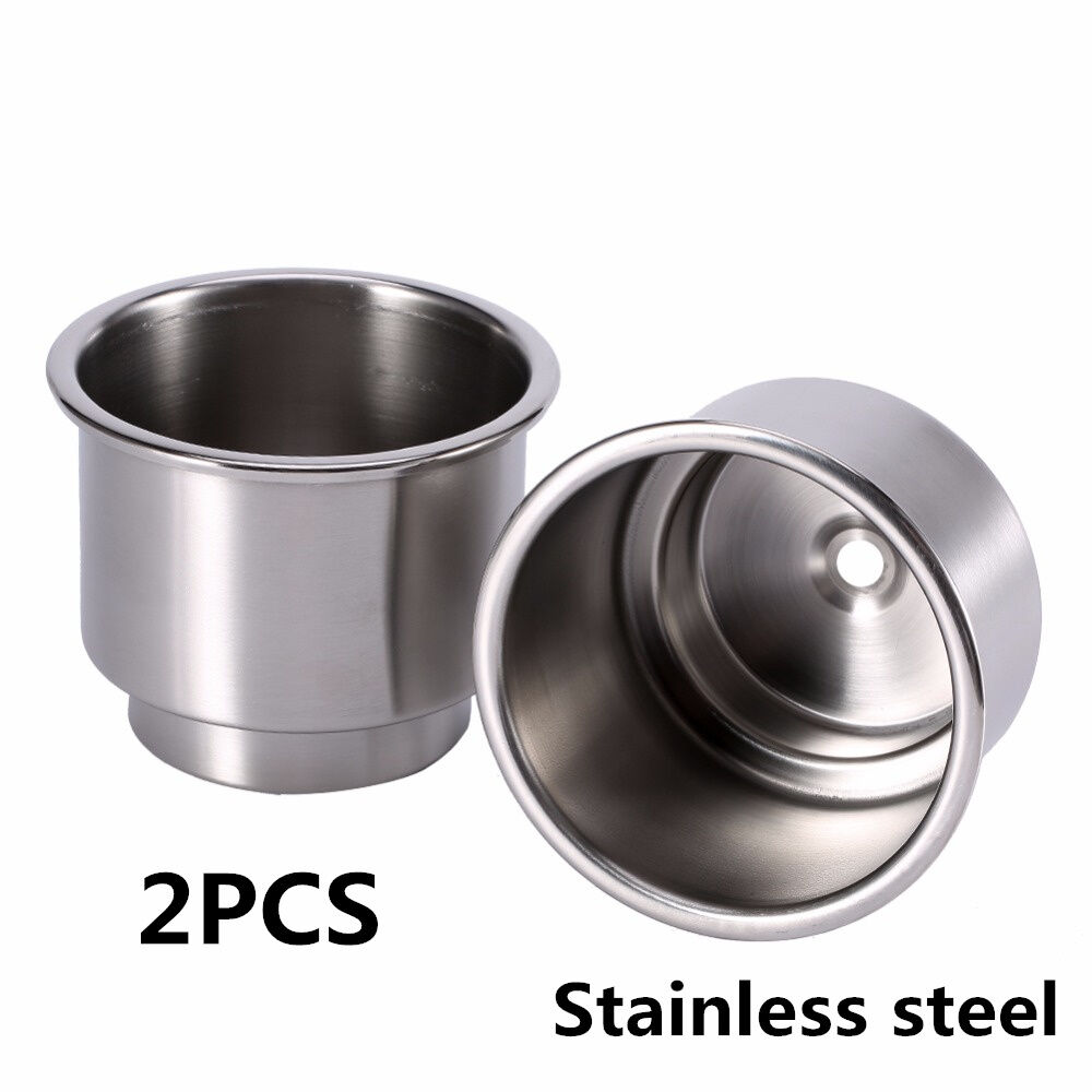2pcs stainless steel cup drink bottle holder universal for car suv pickup truck ebay. Black Bedroom Furniture Sets. Home Design Ideas