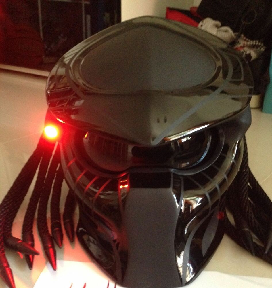 Motorcycle Helmets Dot >> Predator Motorcycle Custom DOT Helmet | eBay