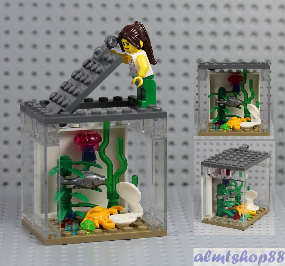 Lego Fish Tank Amp Girl Minifigure Jellyfish Crab Clam