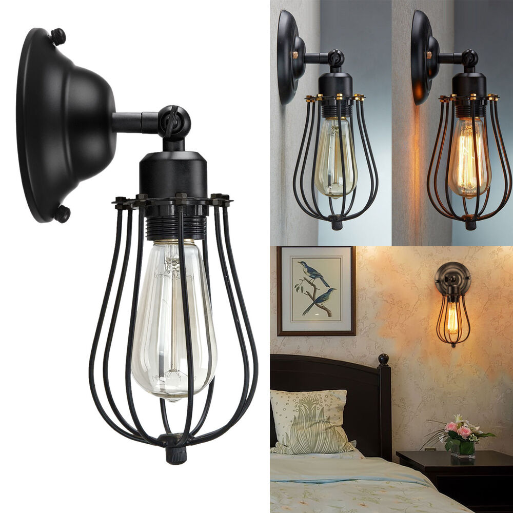 Retro Metal Black Wall Light Adjustable Vintage Industrial