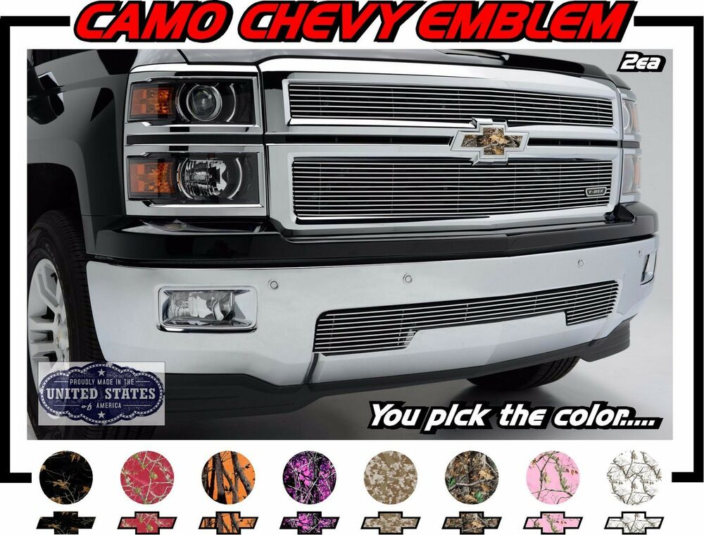 Camo 2x Universal Vinyl Sheet Decal Sticker Overlay For Chevy Bowtie Emblems Ebay