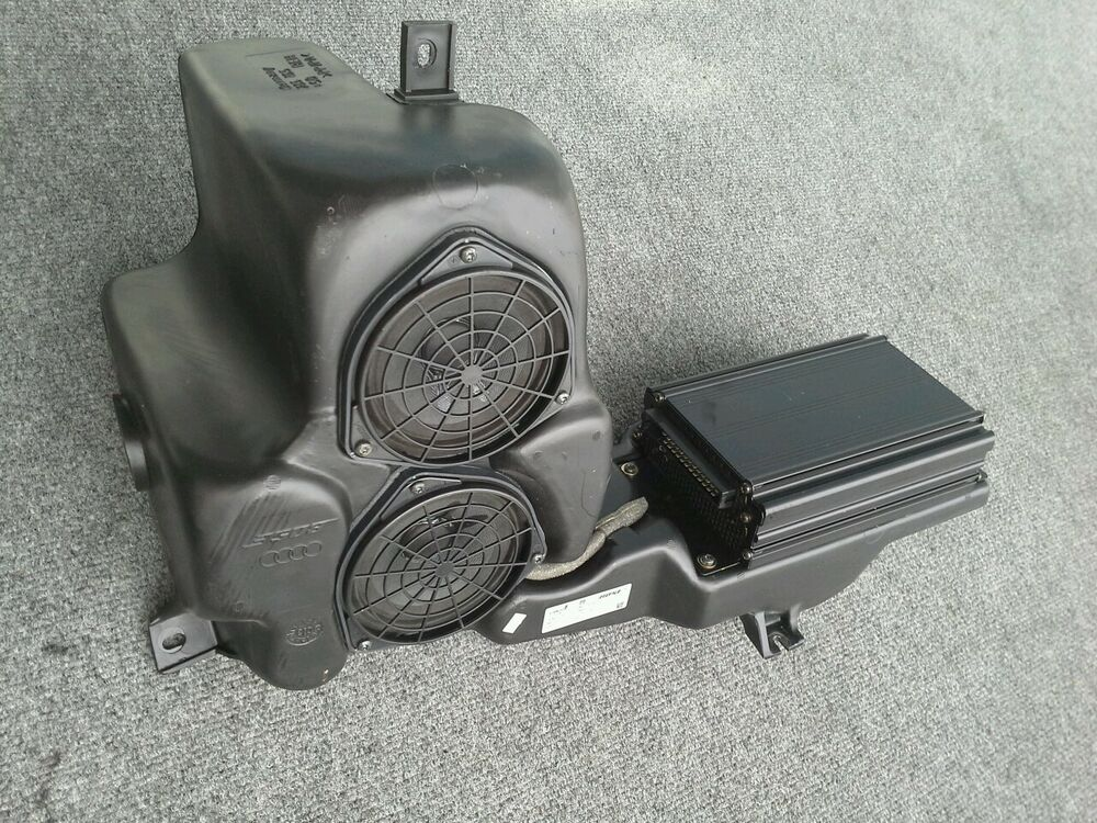 Bose Car Speakers >> 2003 AUDI A6 TRUNK BOSE SUB WOOFER SPEAKER W/AMP OEM | eBay