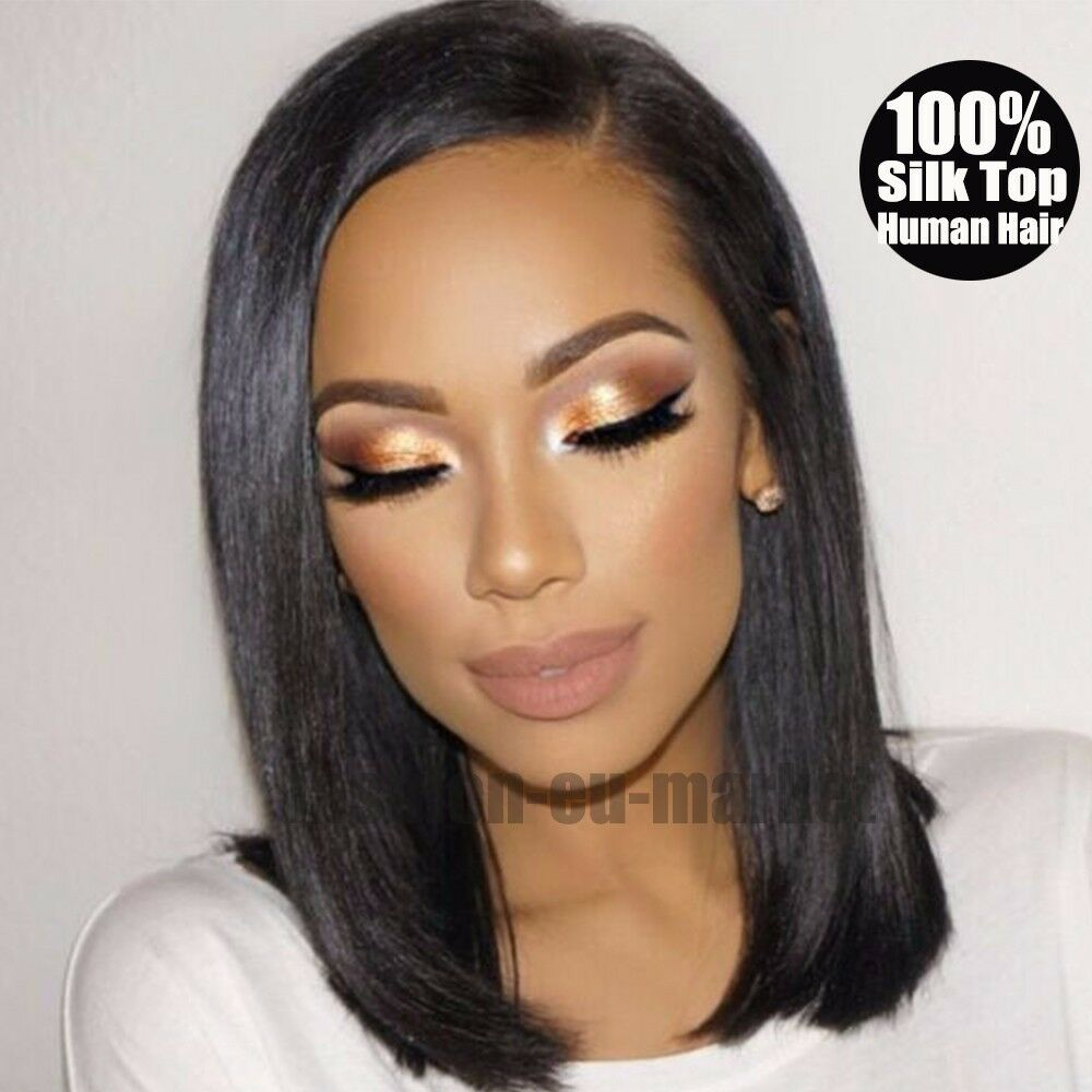 how to style a human hair wig top unprocessed glueless silk base 100 indian remy human 7580