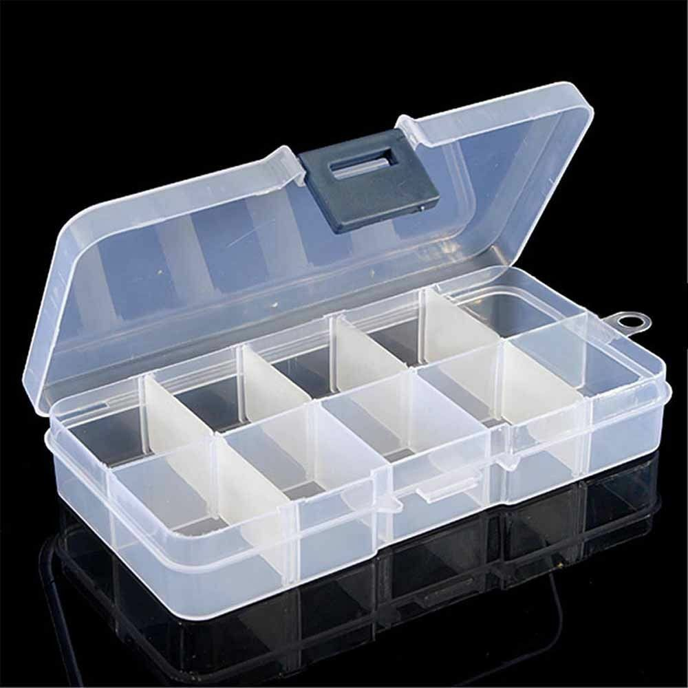 10 15 2 Tray Plastic Compartment Adjustable Organizer
