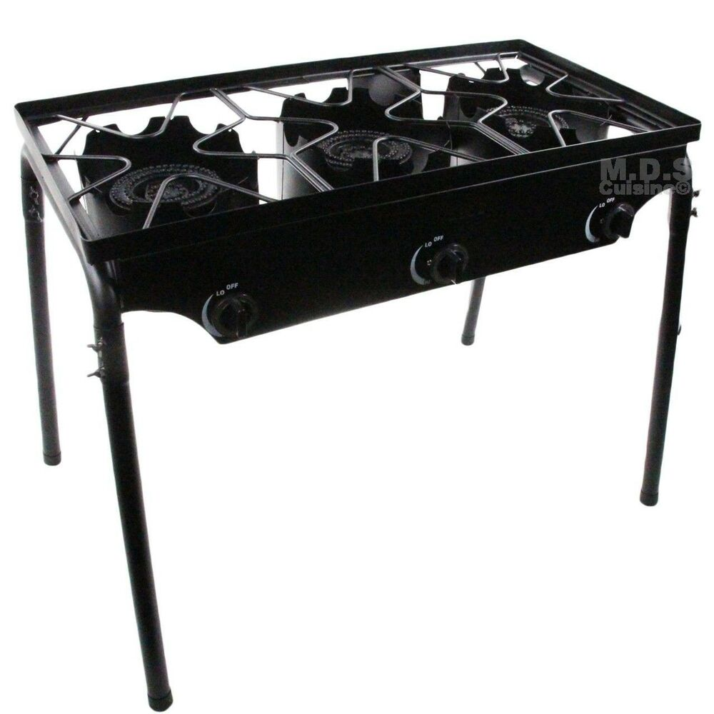 Stove Triple Burner Heavy Duty Gas Propane Outdoor Camping