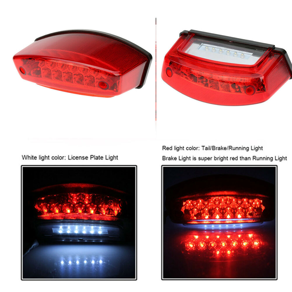 Motorcycle 21 LED Rear Tail Brake Stop Light Lamp For Cafe