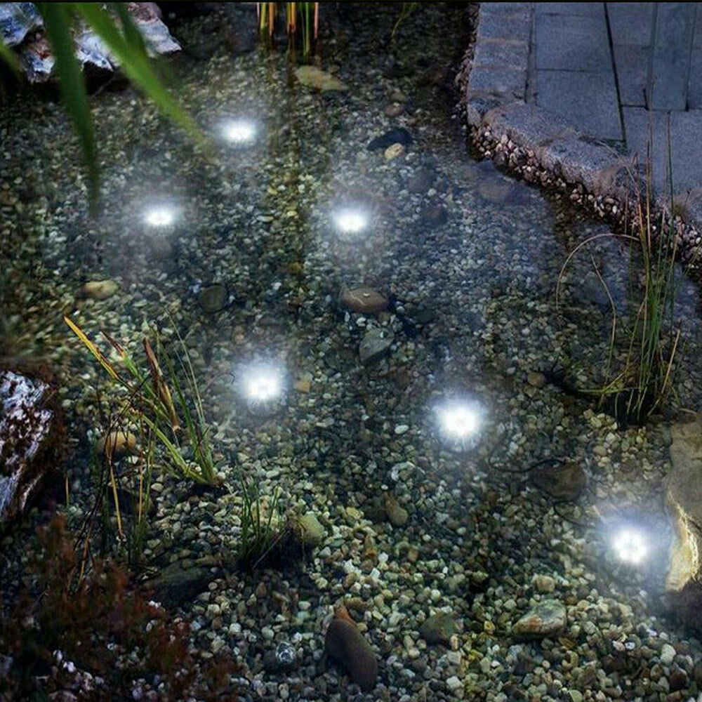 Solar under water pond lights pond lighting powerbee for Koi pond underwater lighting