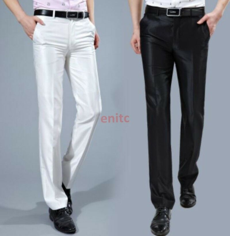 New Fashion Shine Slim Fit Straight Korean Business Mens