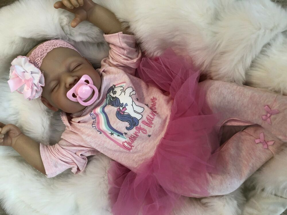 "REBORN DOLLS CHEAP BABY GIRL AMBER REALISTIC 22"" NEWBORN ..."