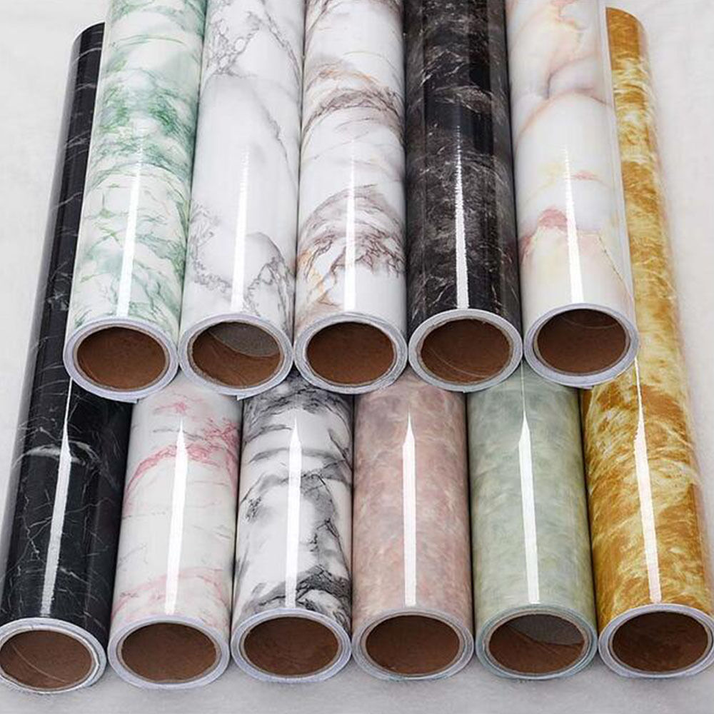 Granite look marble effect contact paper film vinyl self for Wallpaper with adhesive backing