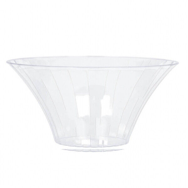 candy buffet clear plastic large flared bowls x 3 ebay. Black Bedroom Furniture Sets. Home Design Ideas