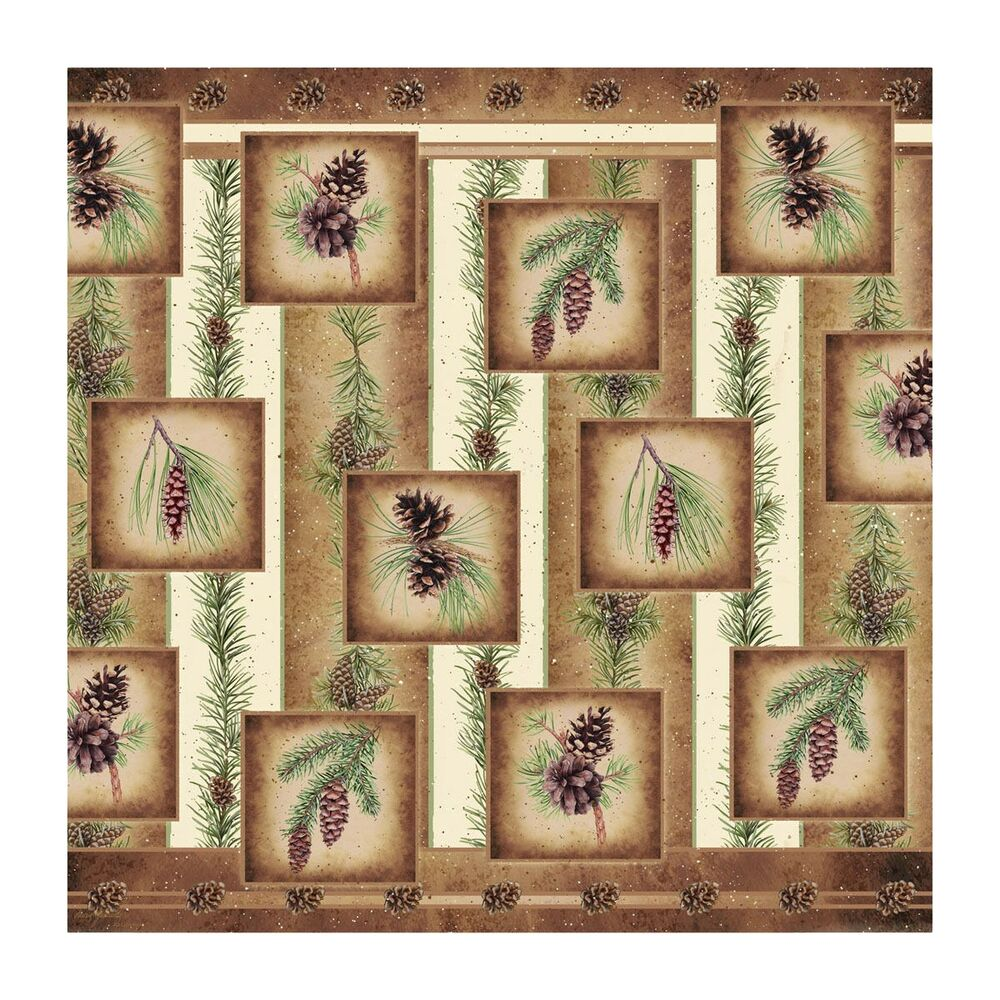 Pine cone nature 70 fabric bath shower curtain rustic for 70 s bathroom decor
