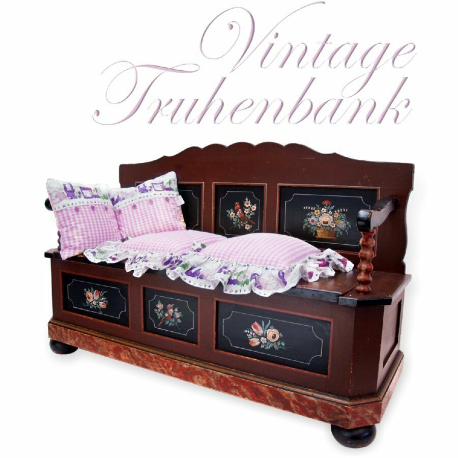 truhe alte sitztruhe k chenbank sitzbank wundersch ne. Black Bedroom Furniture Sets. Home Design Ideas