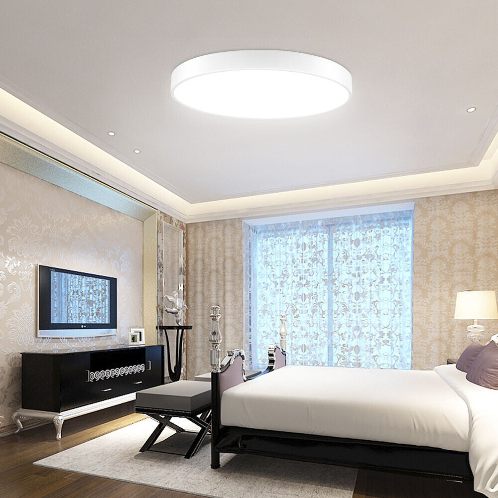 """24w Led Dimmable Ceiling Light Round Flush Mounted Fixture: 24W LED Ceiling Light 15.7"""" Round Flush Mount Fixture"""
