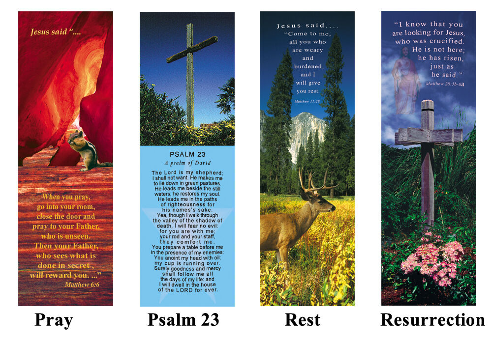 1 Lot 25 Collectible Bookmark Cards Bible Verse Message