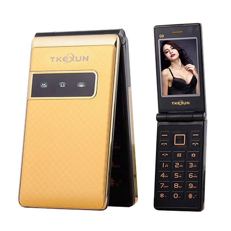 Tkexun g9 flip dual sim card cellphone long standby touch for Telephone portable a touches