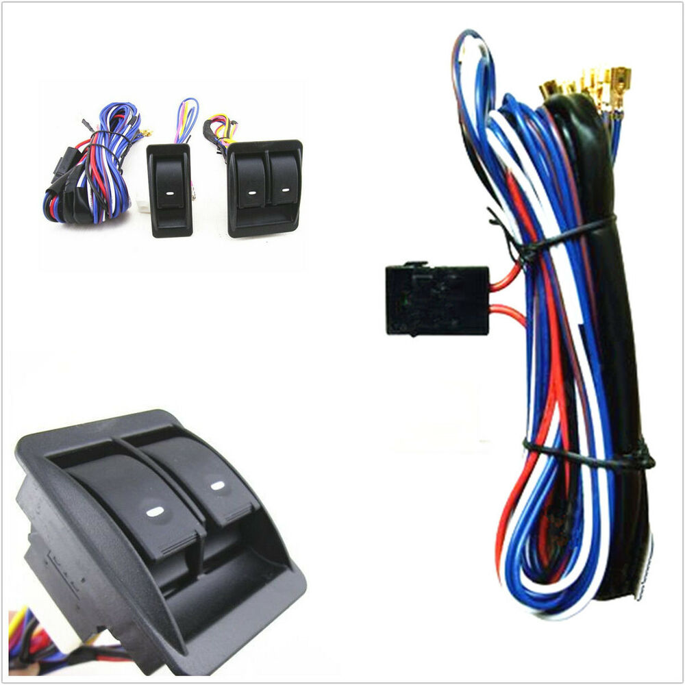 12v 12 Volt Car Electric Power Window Master Control Switch With Wiring Harness 6000000001612