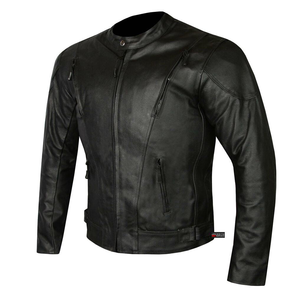 HIGHLY VENTILATED MOTORCYCLE LEATHER CRUISER ARMOR TOURING ...