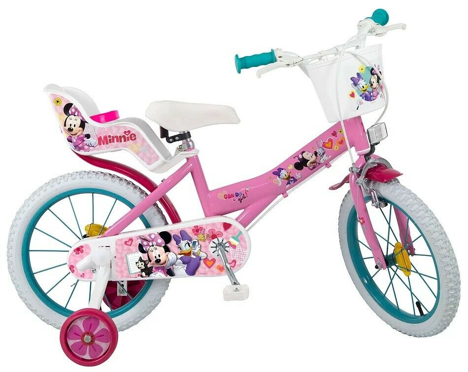 16 16 zoll kinderfahrrad fahrrad m dchenfahrrad disney minnie mouse maus bike ebay. Black Bedroom Furniture Sets. Home Design Ideas