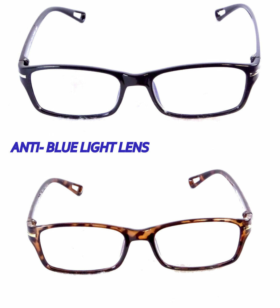 reading glasses w computer anti glare clear lens blue light blocking. Black Bedroom Furniture Sets. Home Design Ideas