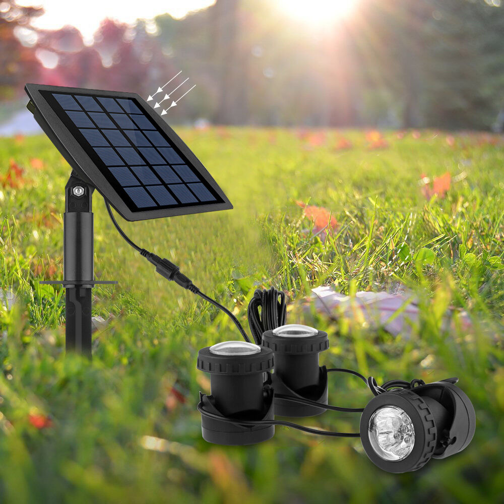 Solar submersible rgb led pond spot lights for outdoor for Solar fish for pools