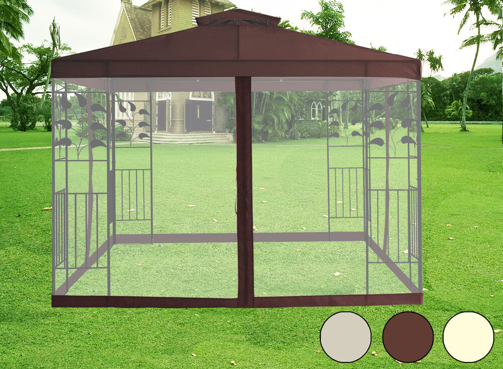 Garden Patio Sun Shade Marquee Mosquito Net Fly Screen