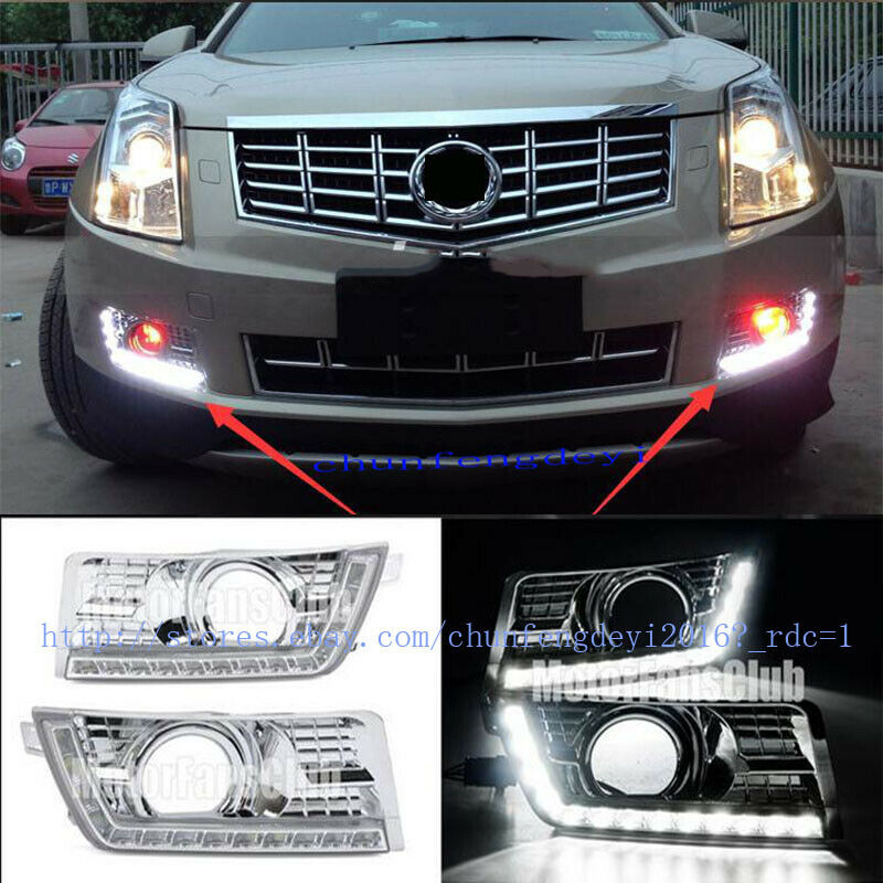 2014 Cadillac Cts Accessories >> 2pcs LED Daytime Running Light For Cadillac SRX SUV DRL Fog 2010 2011 2012-2014 | eBay