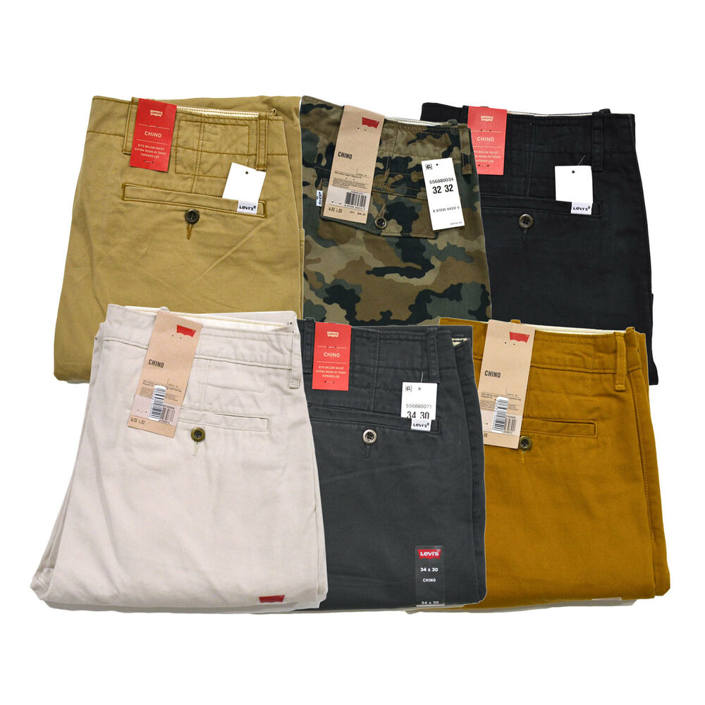 Levis Chinos Flat Front Mens Pants Casual Regular Fit ...