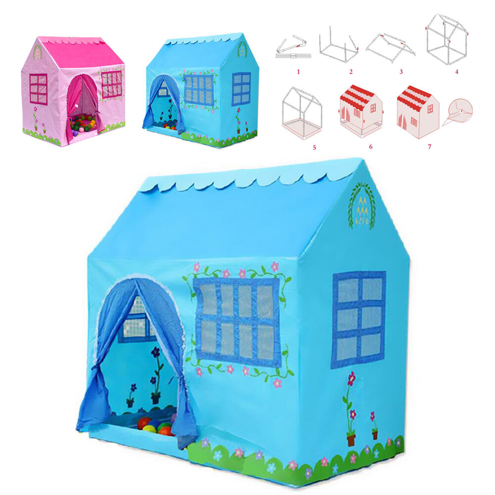 portable folding play house pop up tent children playhouse inside outdoor toy ebay. Black Bedroom Furniture Sets. Home Design Ideas
