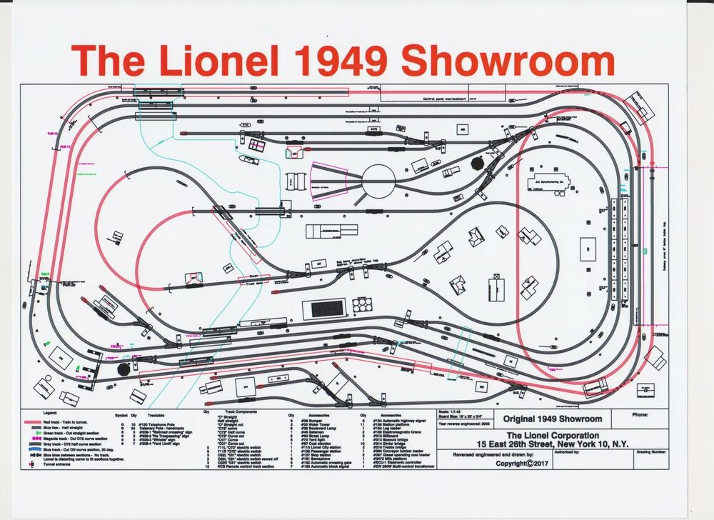 Original 1949 Lionel Showroom Layout Giant Poster Print