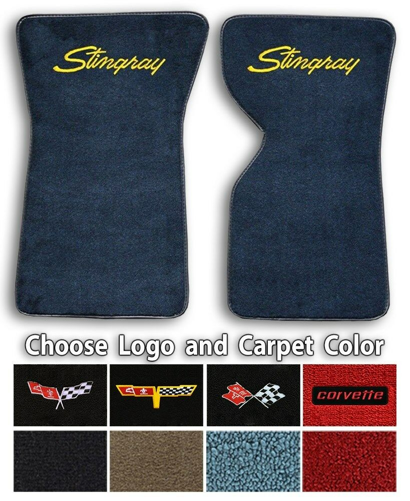 Chevrolet Corvette C3 Logo Loop Carpet Floor Mats Choose