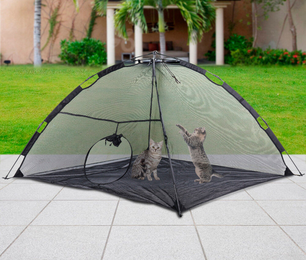 foldable outdoor pet tent dog cat camping mesh enclosure