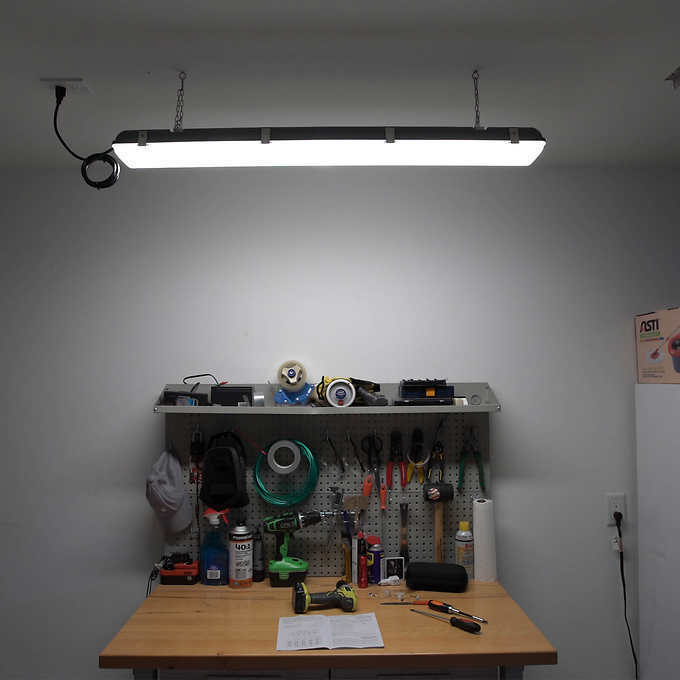"Replace Garage Lights: 45"" LED Shop, Utility Garage Light With Motion Sensor By"