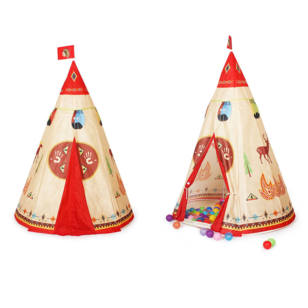 Childrens Kids Teepee Indian History Pop Up Play Tent
