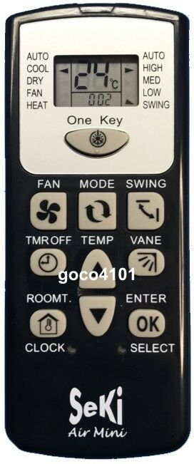 Replacement universal mini sanyo a c air conditioner for 1000 in 1 universal a c remote code table