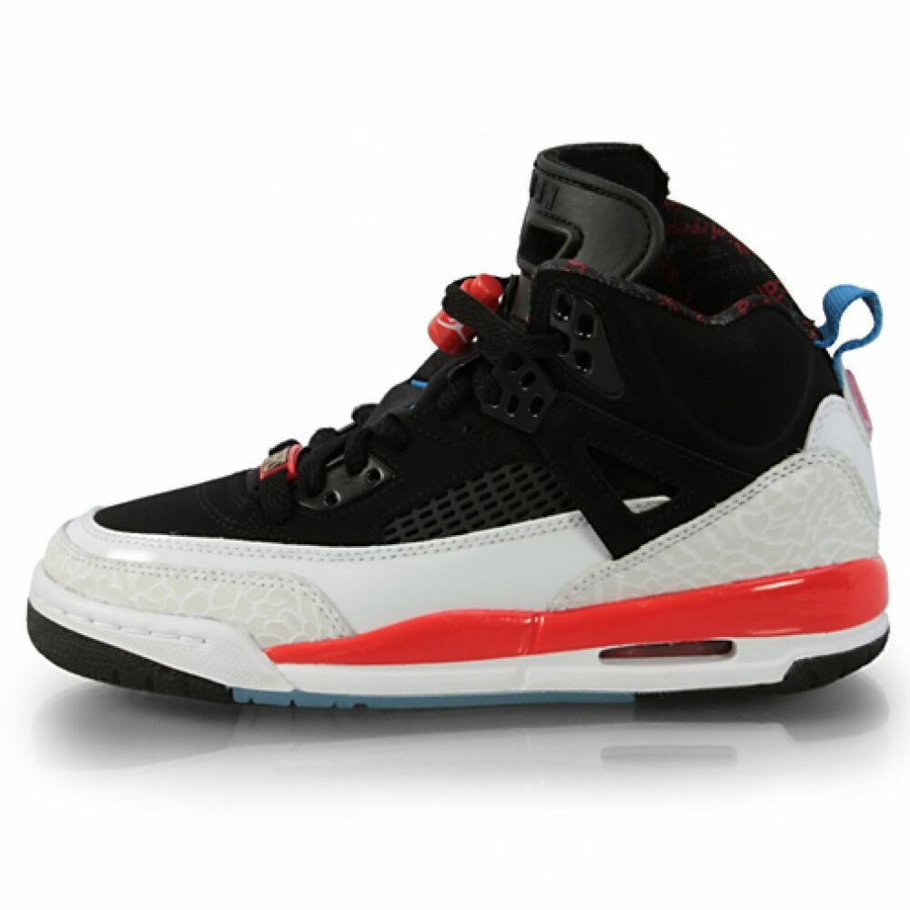 low cost 5668d aeab5 Details about Air Jordan Spizike Gs Big Kids 317321-002 Black New Blue  Infrared Shoes Size 6