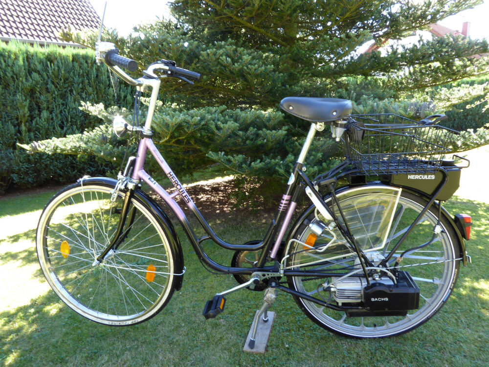fahrrad m hilfsmotor hercules saxonette kein e bike ebay. Black Bedroom Furniture Sets. Home Design Ideas