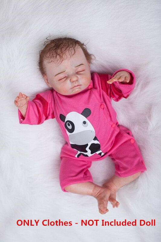 "22"" Newborn Baby Clothes Reborn Doll Girl ONLY Clothes Cow"