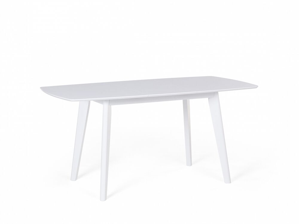 Dining table extendable butterfly leaf folding 120 cm for White dining table with leaf