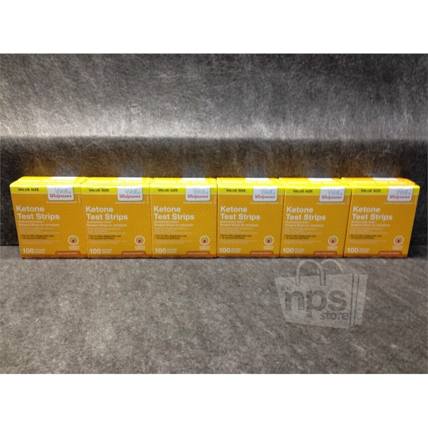 lot of 6 walgreens ketone test strips  100 ea  exp 11  30